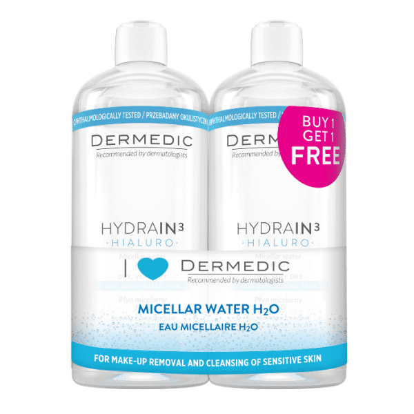 Dermedic Hydrain Micellás víz 500ml 1+1